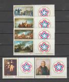 ROMANIA 1976 BICENTENARUL REVOLUTIEI AMERICANE  Serie cu viniete LP.904a  MNH**, Nestampilat