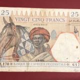 Statele Africane Occidentale - 25 franci 1936 (dată rară)