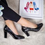 Pantofi Spelima negri eleganti -rl