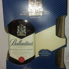 BALLANTINES WHISKY - 40% - 700 ML SET CU 2 PAHARE CADOU, Ballantine's