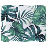 Pernă canapea din paleți, model frunze, 50 x 40 x 12 cm, vidaXL