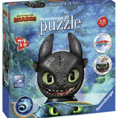 Puzzle 3D Toothless, 72 Piese, Ravensburger