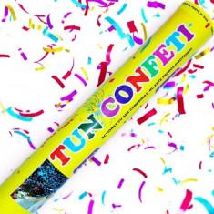 Tun Confeti colorate asoratate cu aer comprimat 40cm