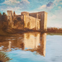 Castel in Spania, Peisaje, Ulei, Realism