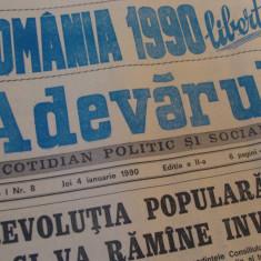 ziarul adevarul- 4 ianuarie 1990