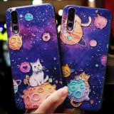Husa de telefon cu Pisica Universului, pentru Huawei P9/p10/p20/p20lite/p10plus
