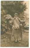 2881 - TIGANCA, vanzatoare de flori, Romania - old postcard, real PHOTO - unused