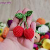 Cirese fructe jucarie copii handmade crosetata bumbac