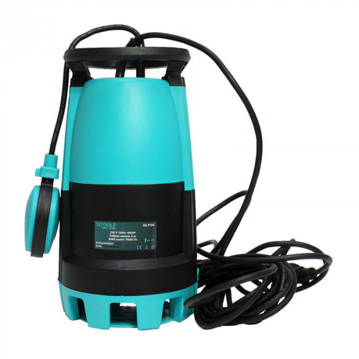 Pompa submersibila de apa curata/murdara Detoolz, 400 W, 0.5 CP, 13 m, 11000 l/h