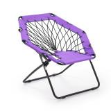 Cumpara ieftin Scaun pliabil pentru copii, din metal si poliester Widget Purple / Black, l83xA72xH75 cm
