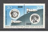 D.D.R.1963 Cosmonautica:Vostok 5 si 6-pereche  MD.181