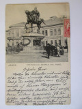 Rara! Carte postala Iasi-Statuia lui Stefan cel Mre,circulata circa 1900, Printata
