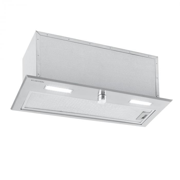 Klarstein Simplica, hotă, încorporat, 70 cm, extracție aerului: 400 m³ / h, LED, oțel inoxidabil