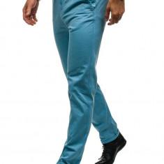 Pantaloni pentru bărbat slim fit albastru-deschis Bolf 6188