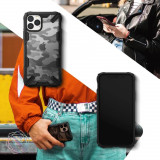 Husa iPhone 11 Pro, Bumper, Ringke Fusion X, Militar Design, Negru