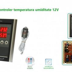 Termostat higrostat electronic controler temperatura umiditate 12V
