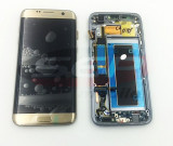 LCD+Touchscreen cu Rama Samsung Galaxy S7 edge / G935F GOLD original