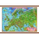 Europa harta pentru copii, cu sipci, 1400x1000mm (GHECP)