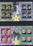2017 , ROMANIA , ACTORI , STELE ALE SCENEI - 4 SERII IN BLOCURI DE 4 - MNH, Nestampilat
