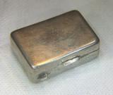 Cutiuță veche de argint - miniatură valijoară (3,4 x 2,3 cm) - Piesă superbă!