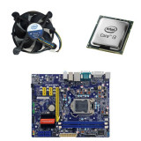 Kit placa de baza second hand Foxconn H61MXV, Intel i3-2100, Cooler