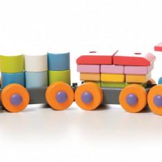 Jucarie din lemn Trenulet Cubika