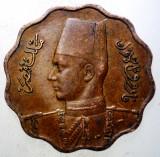 7.780 EGIPT EGYPT FAROUK 10 MILLIEMES 1943, Africa, Bronz