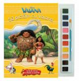 Vaiana. Sa pictam cu Vaiana. Carte de colorat cu pensula si acuarele/Disney