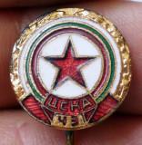 I.480 INSIGNA STICKPIN BULGARIA TSKA CSKA SOFIA STEA FOTBAL 15mm email