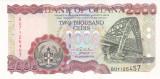 Bancnota Ghana 2.000 Cedis 2002 - P33g UNC