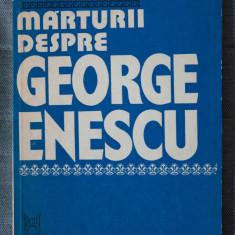 Pinter Lajos - Mărturii despre George Enescu