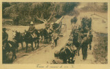 WW1 MILITARi TUN HEAVY CANNON 140 TRANSPORTATION AFRICAN WAR VINTAGE POSTCARDD