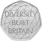 Moneda jubiliara Anglia - 50 pence 2020 - Diversity Built Britain -UNC, Europa, Cupru-Nichel