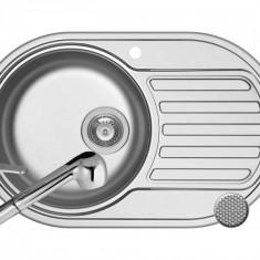 Pachet chiuveta SR MINI 1B1D ST LN + Baterie FIDO Pyramis Inox
