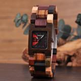 Cumpara ieftin Ceas din lemn Bobo Bird cu curea din lemn S02-2