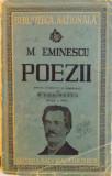 M. EMINESCU, POEZII, EDITIE INTOCMITA SI COMENTATA de G. CALINESCU, EDITIA A DOUA, 1943