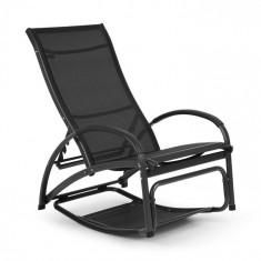 Blumfeldt Beverly Wood, leagăn de soare, scaun balansoar, aluminiu, negru
