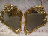 Oglinda(set oglinzi)aplice baroc venetian/vintage,Italia,lemn, anii60, Dupa 1950