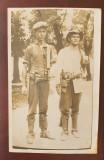 Fotografie cu Bucurestiul anilor interbelici.Instalatori linii telefonice., Alb-Negru, Cladiri, Romania 1900 - 1950, Hachette