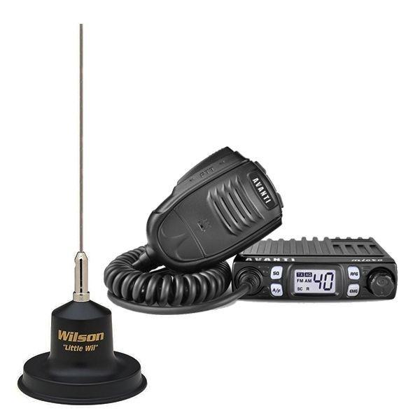 Statie radio CB Avanti Micro (versiunea PRO) cu antena Little Wil
