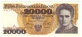 Polonia 20 000 zloti 1989  UNC