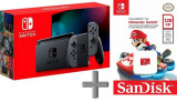 Consola Nintendo Switch (Joy-Con Grey) V2 + Memorie 128 GB