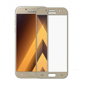 Folie Sticla Samsung Galaxy J5 2017 j530 Gold Fullcover 2D Full Glue Tempered Glass Ecran Display LCD