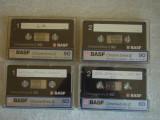 Lot 4 Casete Audio BASF CrO2 - Inregistrate o singura data - 40