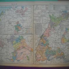 HOPCT DOCUMENT-HARTA VECHE NR 53 BAVARIA/BAYERN 1771 -D=320/250 MM LEIPZIG 1918
