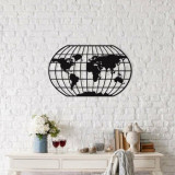 Decoratiune pentru perete, Ocean, metal 100 procente, 88 x 49 cm, 874OCN1038, Negru