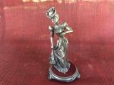 Statueta veche franceza din zinc