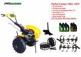 Pachet motocultor Campo 1803, benzina, EURO5, 18CP, 2+1 trepte, accesorii, ulei motor si transmisie incluse, Progarden