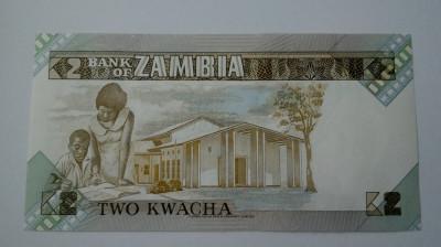 BANCNOTA Zambia 2 kwachs unc foto