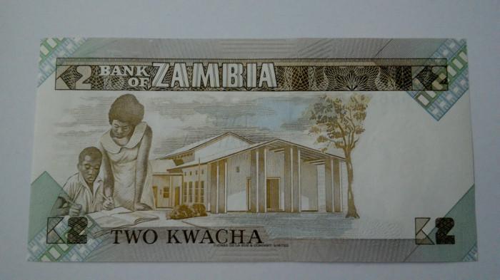 BANCNOTA Zambia 2 kwachs unc